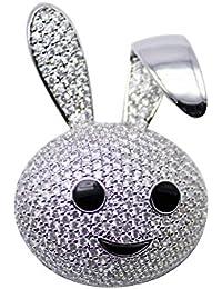 Dainika Aabharanam | Beautifully Crafted Micro-Pavé Rhinestones Adorable Rabbit Design Silver Colour Brooch/Saree-Pin...