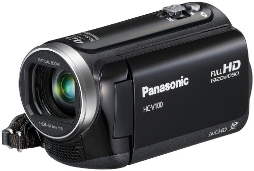 Panasonic HC-V100EG-K Full-HD-Camcorder (6,7cm (2,6 Zoll) LCD-Display, 34-fach opt. Zoom, 32mm Weitwinkel) schwarz