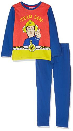 8e7db80454 Feuerwehrmann Sam Jungen Zweiteiliger Schlafanzug Blau, 2 Jahre