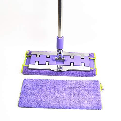 MEISHENG Edelstahl MOP-Haushalts waschbarer Traktor + Kratzer für die Reinigung von Holzböden, etc. (Trocken Mops Für Holzböden)