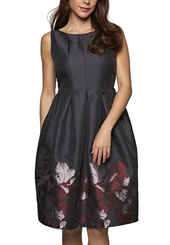 APART Fashion Damen Kleid, Grau (Grau-Multicolor 0), 40