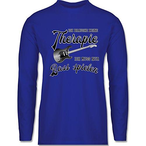 Instrumente - Ich brauche keine Therapie ich muss nur Bass spielen - Longsleeve / langärmeliges T-Shirt für Herren Royalblau