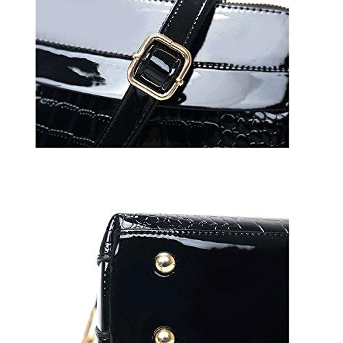 Damen Tasche Trendy Handtasche Schulter Diagonal Paket,Blue Black