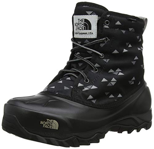 THE NORTH FACE Damen Women's Tsumoru Boot Schneestiefel, Schwarz (TNF Black Triangle Weave Print/Foil Grey 5ub), 38 EU (North Face Stiefel The Damen)