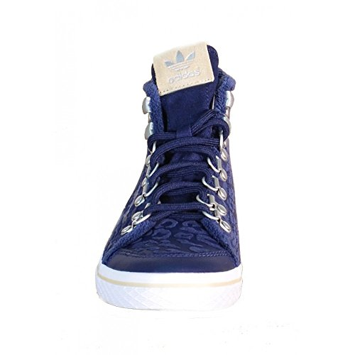 adidas Honey Hook W Scarpe Sportive Alte Donna Blu Pelle S77425 Blu