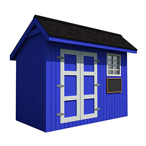 Kinderspielhaus Pläne DIY Hinterhof Lagerhaus Werkstatt Mini Cottage Gästehaus