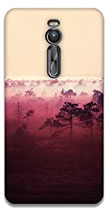 The Racoon Grip printed designer hard back mobile phone case cover for Asus Zenfone 2 ZE551ML. (red wood)