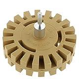 perfk Folienradierer Radierscheibe mit Adapter für alle handelsübliche Bohrmaschinen, Akku-Schrauber und Haushaltsbohrer