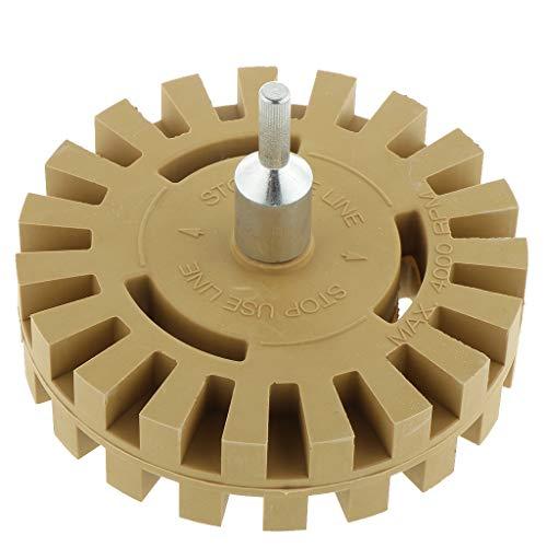 B Blesiya Folienradierer Radierer Radiergummi-Rad inkl. Adapter, für Aufkleber, Nadelstreifen und Kleberückstände entfernen von Autos, Lastwagen