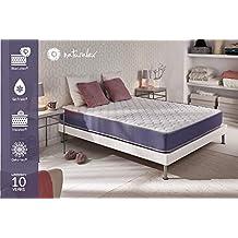 NATURALEX Matelas Geltec - Mousse à mémoire Gel Fresh - Système UHR Blue Latex - 7 Zones de Confort - 140 x 190 cm - Mi-Ferme