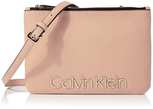 Calvin Klein Damen Ck Must Crossover Umhängetasche, Pink (Nude), 5x16x24 cm