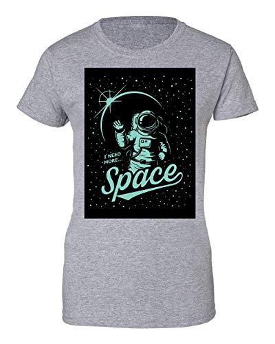 Brenos Design I Need More Space Funny Astronaut NASA Joke Illustration Camiseta...