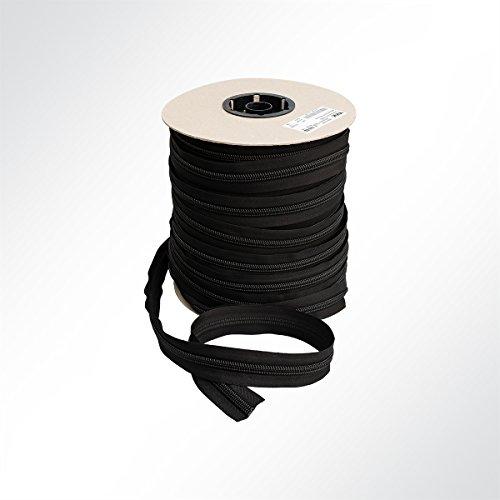 YKK® Spiralreißverschluß 10mm Spiralbreite Reissverschluss endlos Meterware schwarz