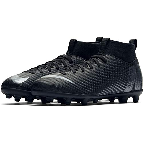 Nike Jr Superfly 6 Club Fg/MG, Scarpe da Calcetto Indoor Unisex-Bambini, Nero Black 001, 38 EU