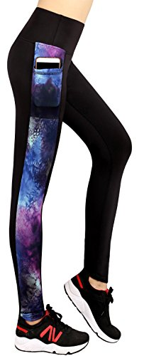 Sugar Pocket Womens Athletic Pants Workout Yoga Leggings Fitness Tights