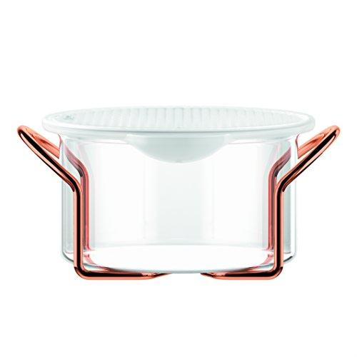 Bodum,set Hot Pot Set, teglia da forno con coperchio in silicone, Silicone, trasparente, 1.0