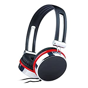"Gembird MHP-903 headphone - headphones (Black, Red, Stainless steel, Supraaural, 3.5 mm (1/8""), 20 - 20000 Hz, Head-band, Wired)"