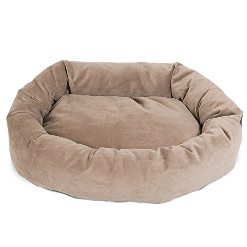 majestic-pet-hundebett-in-bagel-form-10160-cm-grau-wildleder-von-majestic-pet-products