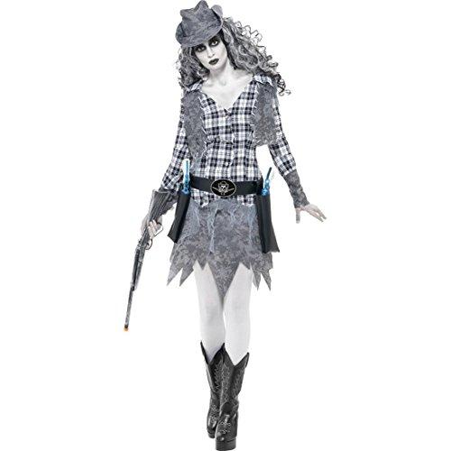 Kostüm Hot Cowgirl - NET TOYS Zombie Cowgirl Kostüm Cowgirlkostüm S 36/38 Zombiekostüm Cowboykostüm Damen Halloweenkostüm Halloween Verkleidung