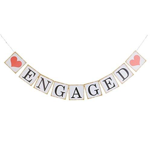 Nicebuty Banner zur Verlobung mit Aufschrift