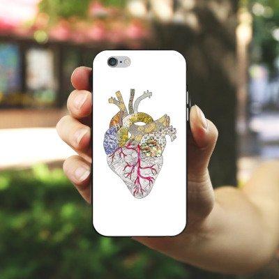 Apple iPhone X Silikon Hülle Case Schutzhülle Liebe Herz Heart Silikon Case schwarz / weiß