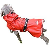 PALMFOX impermeable perro impermeable para la actividad al aire libre respirable revestimiento de malla reflectante diseño rojo 2XL