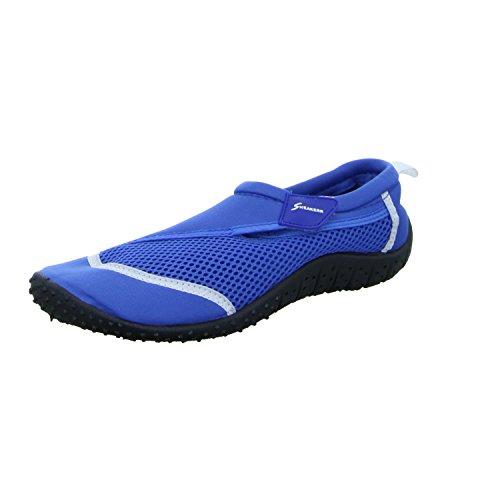 Sneakers AQUASHOES3 Herren Leinen Slipper/Kletthalbschuh Blau (Blau)