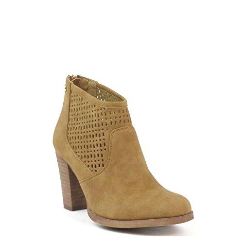 XTI - Jeans Pu Ladies Ankle Boots ., Scarpe da barca Donna Cammello