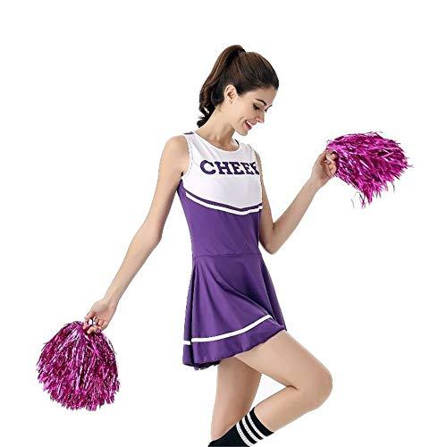 MCO%SISTSR Cheerleader-Kostüm,Mädchen Team Uniform Fußball Kurzes Kleid High School Musik Kostüm Sport Wettbewerb Dance ()