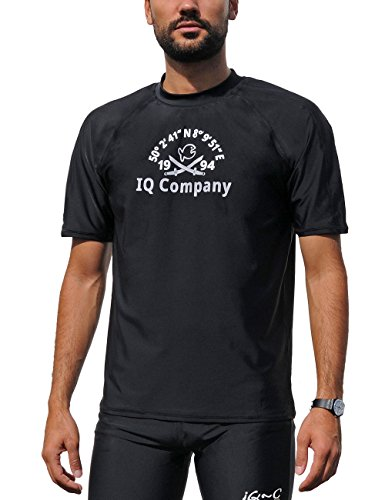 iQ-Company Herren T-Shirt UV-Schutz 300 Loose Fit Watersport 94 - Schwarz