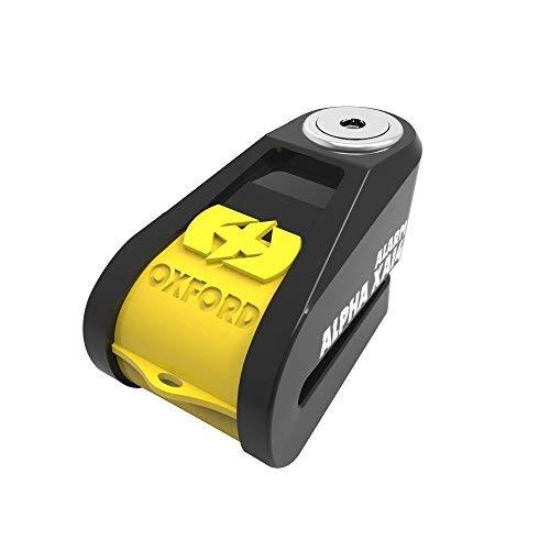 Oxford Alpha XA14 Alarm Bremsscheibenschloss Gelb