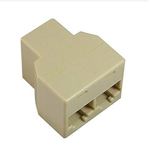 homiki 1PC Connecteur Adaptateur Doubleur répartiteur de Splitter connecteur Ethernet