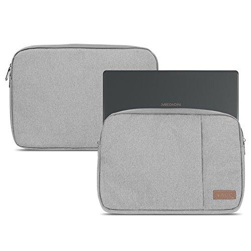 NAUC Medion Akoya E2228T Notebook Hülle Laptop Schutz Tasche Notebooktasche Grau Tablet