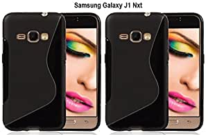 S LINE Anti Skid Gel TPU Slim Soft Case Cover forSamsung Galaxy J1 Nxt (Value for Money Set of 2)