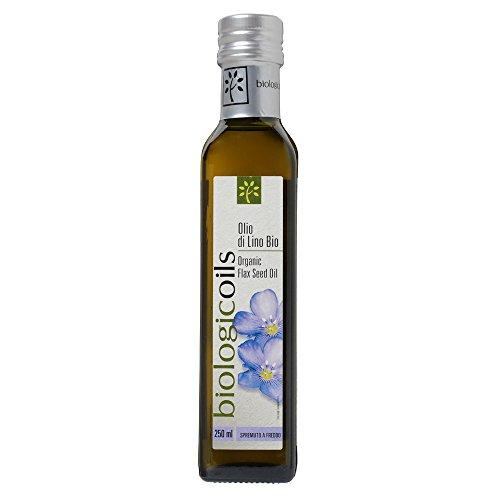 biologicoils オーガニックJAS認証 イタリア産有機アマニオイル 229g (アマニ油・亜麻仁油・フラックスシードオイル)