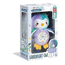 Clementoni 17268 Night Owl Light up Plush, Multi-Colour