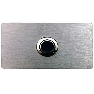 Design Klingelplatte V2A Edelstahl Klingel Schild - Top Geschenk zum Umzug Türklingel Klingelknopf Klingelschild - Door Bell Plate Stainless Steel Button