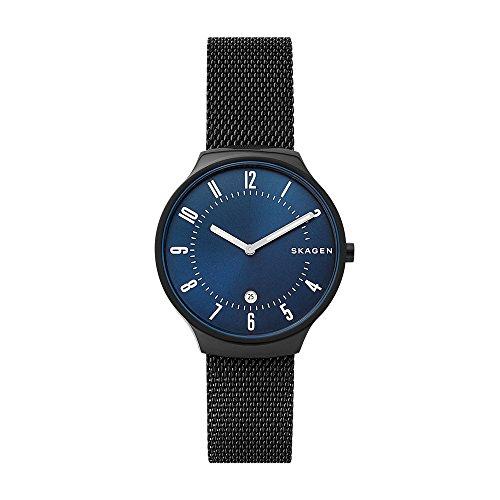 Skagen Herren Analog Quarz Uhr mit Edelstahl Armband SKW6461