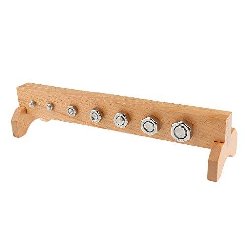 Juguetes de Montessori Madera Pernos y Tuercas con Soporte Práctica Material Metal