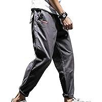 cheyuan Bolsillos para Hombres Pantalones Rectos Ropa De Herramental De Color Puro Holgados No Elásticos Mezclas De Algodón Pantalón, para El Ocio Actividad Diaria