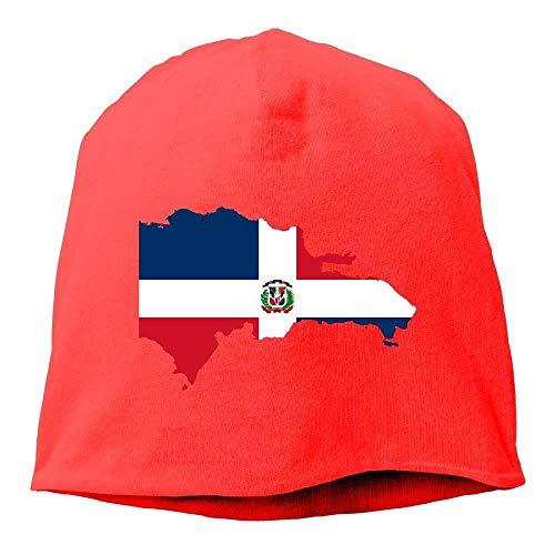 Adult Dominican Republic Map Flag Hip-Hop Beanie Hat Skull Cap