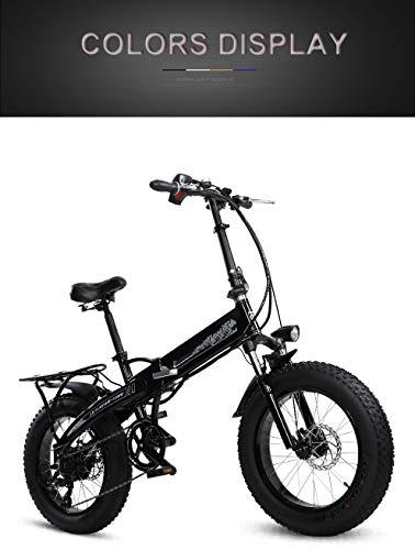 SHIJING Bicicleta Plegable eléctrica 20 Pulgadas 4.0snow neumáticos de Grasa 36v Bicicleta eléctrica...