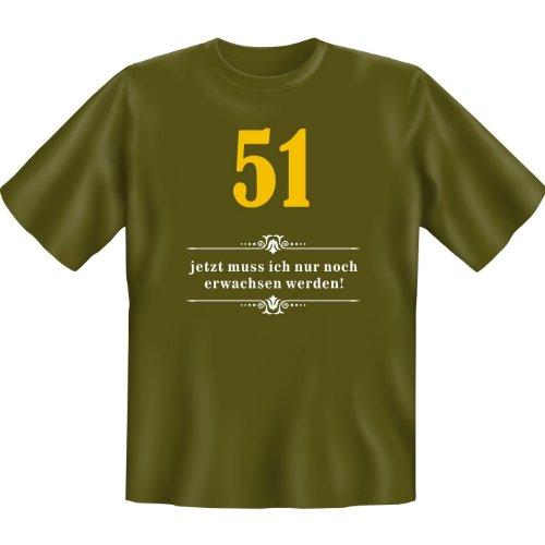 51 - jetzt muss ich nur noch erwachsen werden! Farbe: khaki Khaki