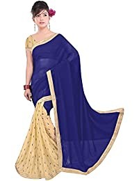 Onlinehub Sarees For Women Latest Design Geogette Material Latest Designer Beautyful Sarees With 1 Blouse Piece...