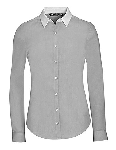 Women`s Long Sleeve End-To-End Shirt Belmont Pearl Grey