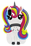 Coque Iphone XR Licorne Silicone, Coque Souple Silicone Licorne 3D Animaux Iphone XR Fille Mignon