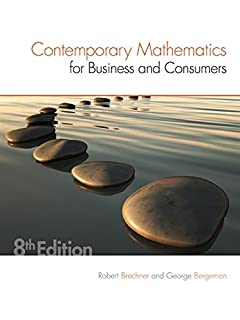 Contemporary Mathematics for Business and Consumers (1305585445) | Amazon price tracker / tracking, Amazon price history charts, Amazon price watches, Amazon price drop alerts