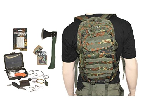 AOS-Outdoor Survival Set Trekking Outdoor Set 5 Teile flecktarn