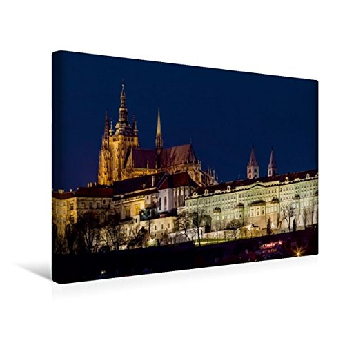 Hradschin (Calvendo Premium Textil-Leinwand 45 cm x 30 cm quer, Der Hradschin - die Prager Burg | Wandbild, Bild auf Keilrahmen, Fertigbild auf echter Leinwand, Leinwanddruck Orte Orte)