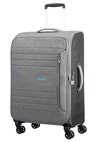 American Tourister Sonicsurfer - Spinner 68/25 Expandable Koffer, 68 cm, 83.5 L, Metal Grey